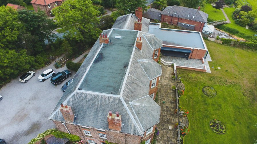 Delamination survey helped with aerial photography