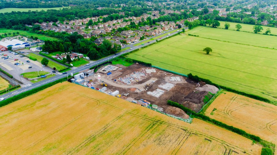 Construction Progress Aerial Photography – Sutton Coldfield – June 2017