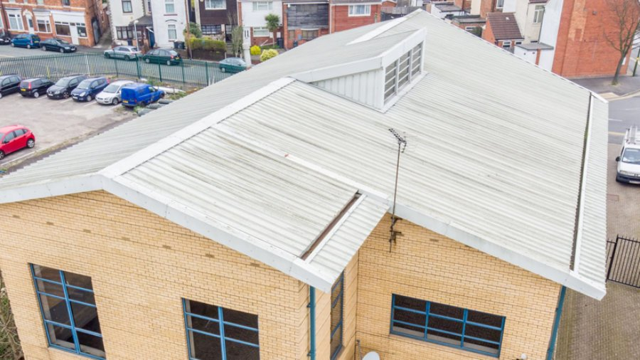 Aerial Roof Inspection – Office/Warehouse Roof Birmingham
