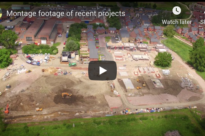 Short montage of drone construction footage.
